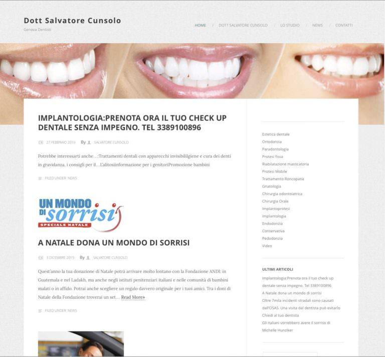 Dottor Salvatore Cunsolo - Genova Dentisti