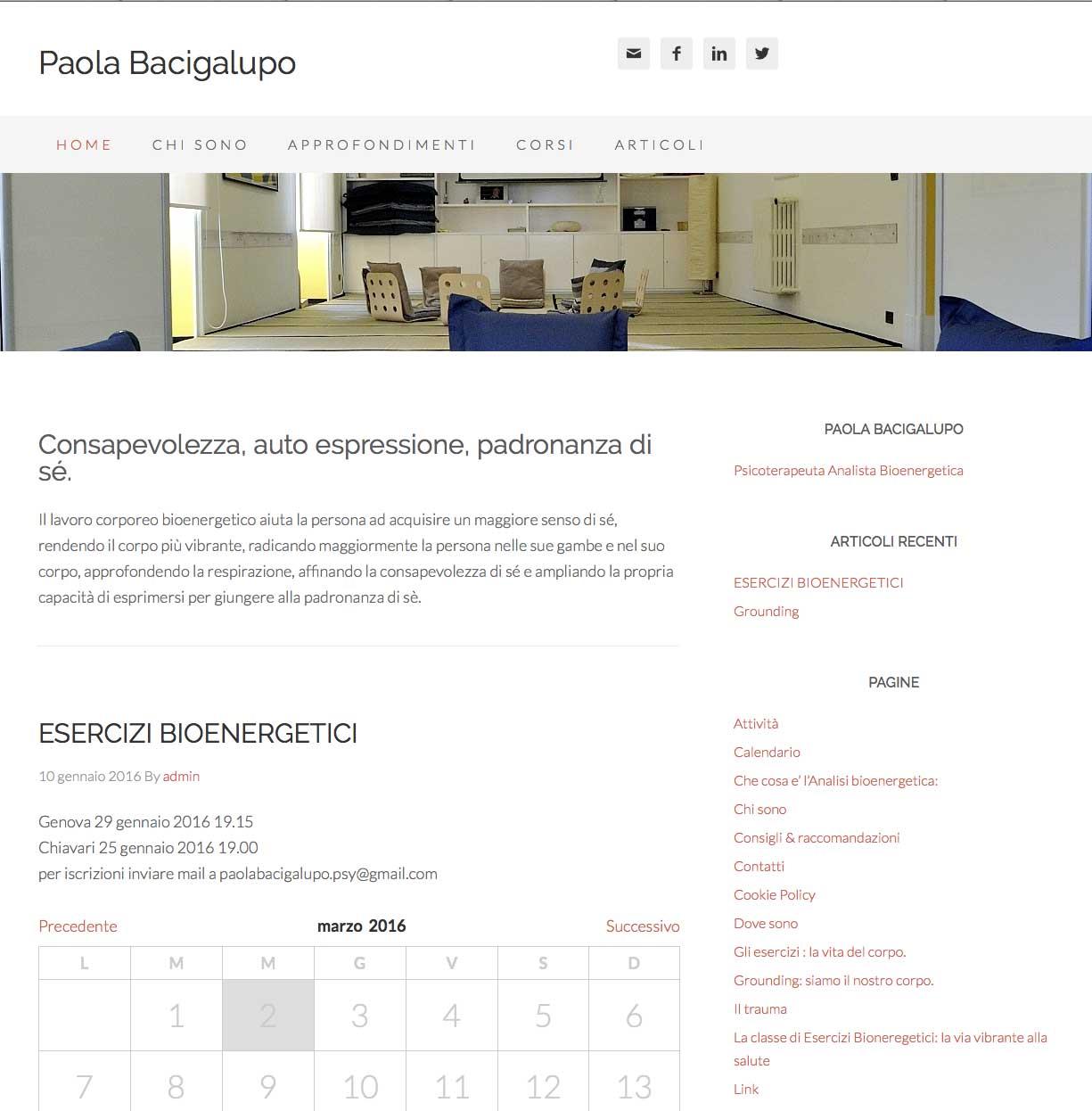 Dottoressa Paola Bacigalupo