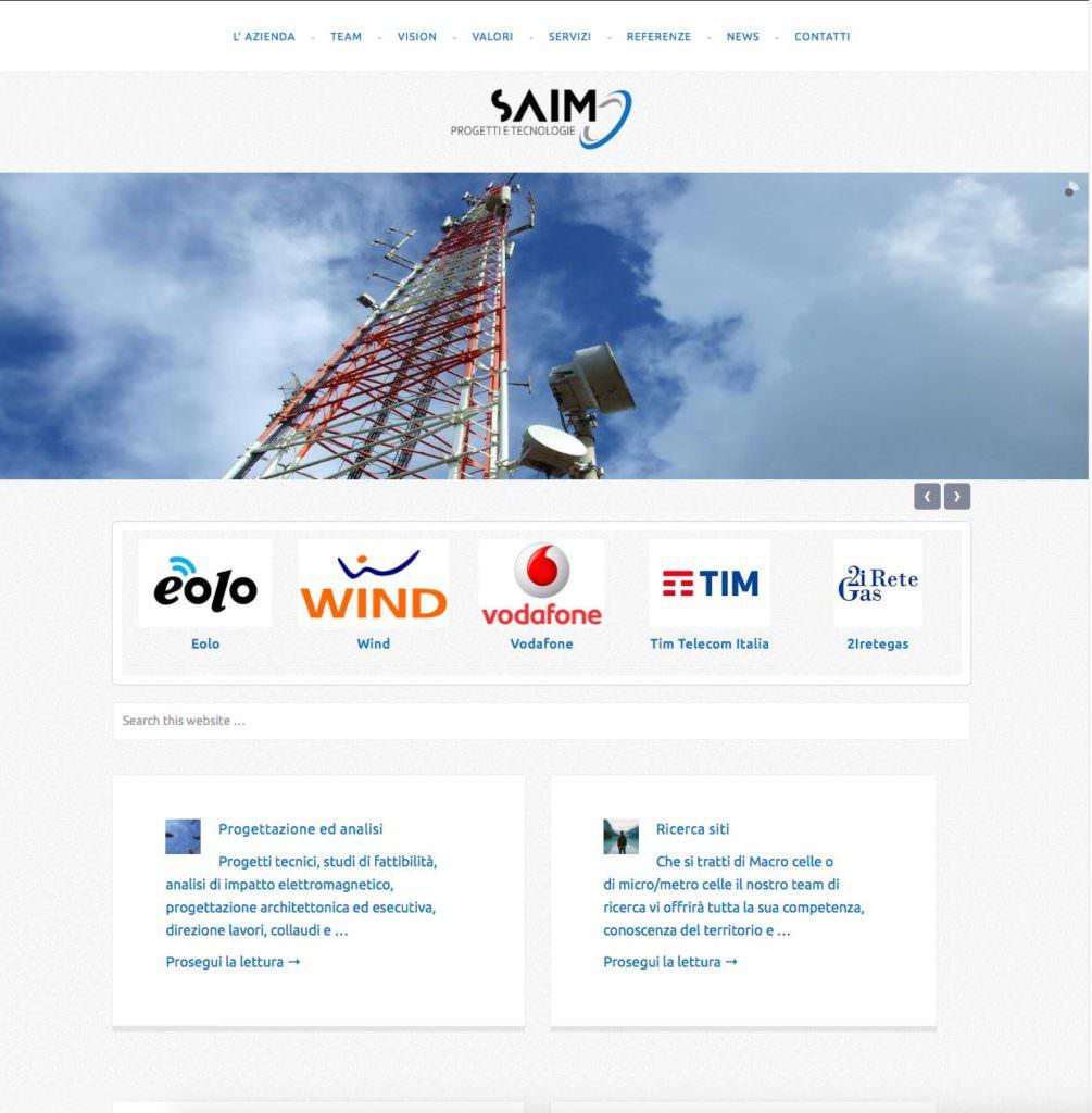 Nuovo sito internet per Saim http://www.saimtech.it