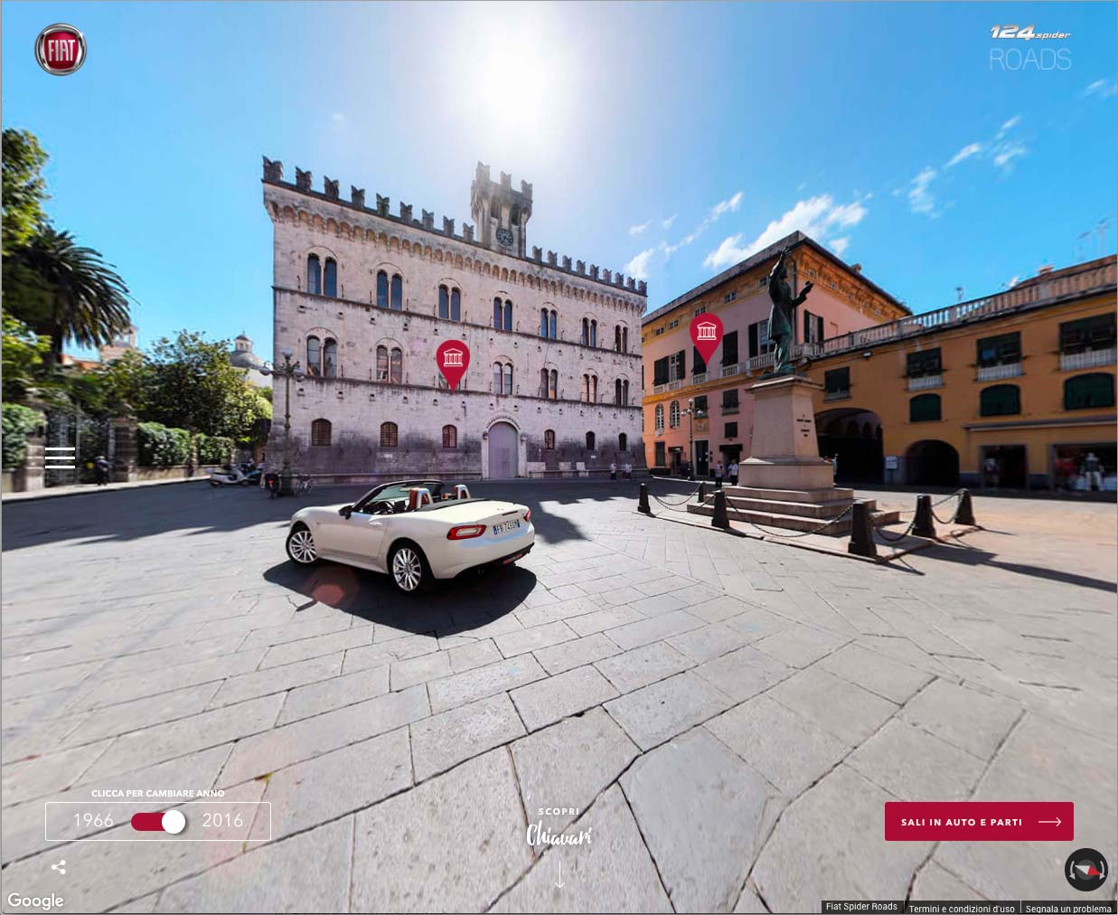 FCA, progetto Fiat 124 Spider Roads per viaggiare 'on line'