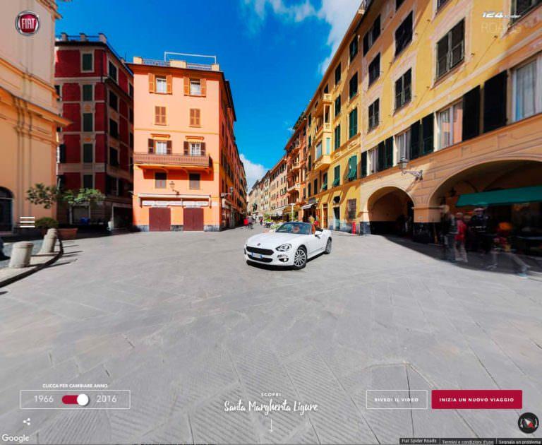 FCA, progetto Fiat 124 Spider Roads per viaggiare 'on line',servizio fotografico, fotografo genova