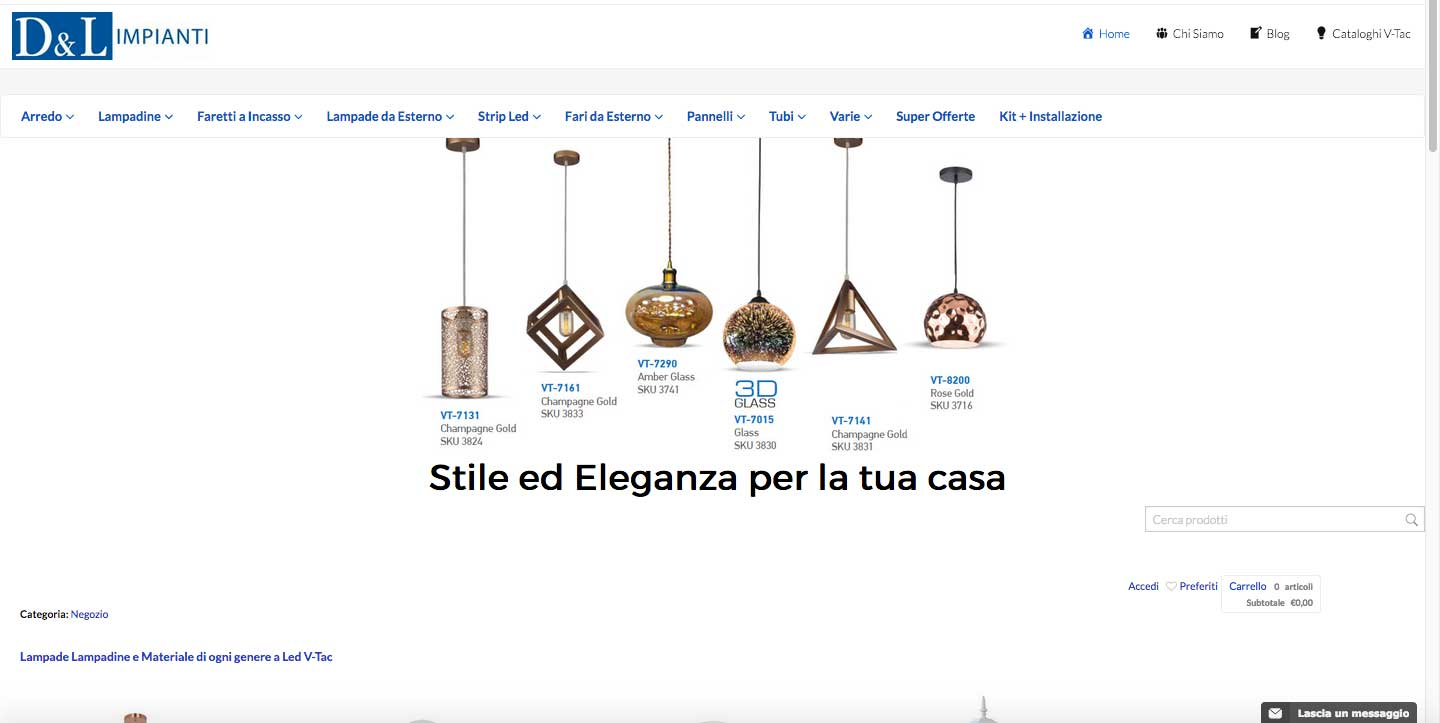 DL Impianti Store - Web design - ecommerce