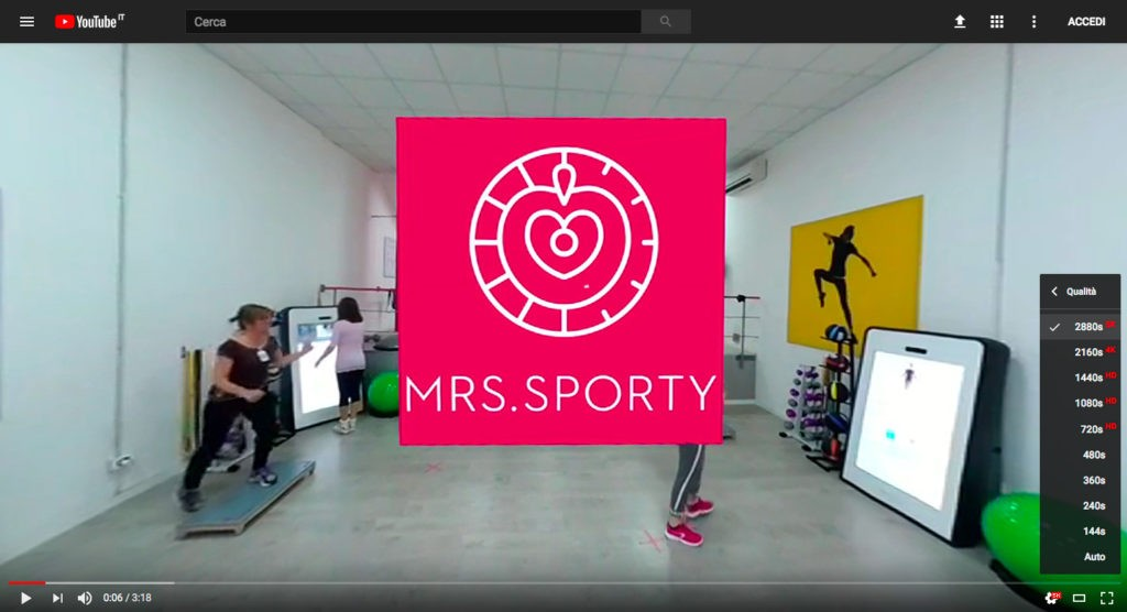 Mrs Sporty, GENOVA - VIDEO 360° a 5.7K