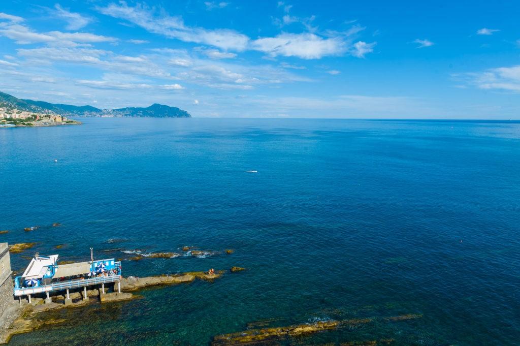 Bagni Santa Chiara in 360, Capo si santa chiara, Genova, fotografia immersiva