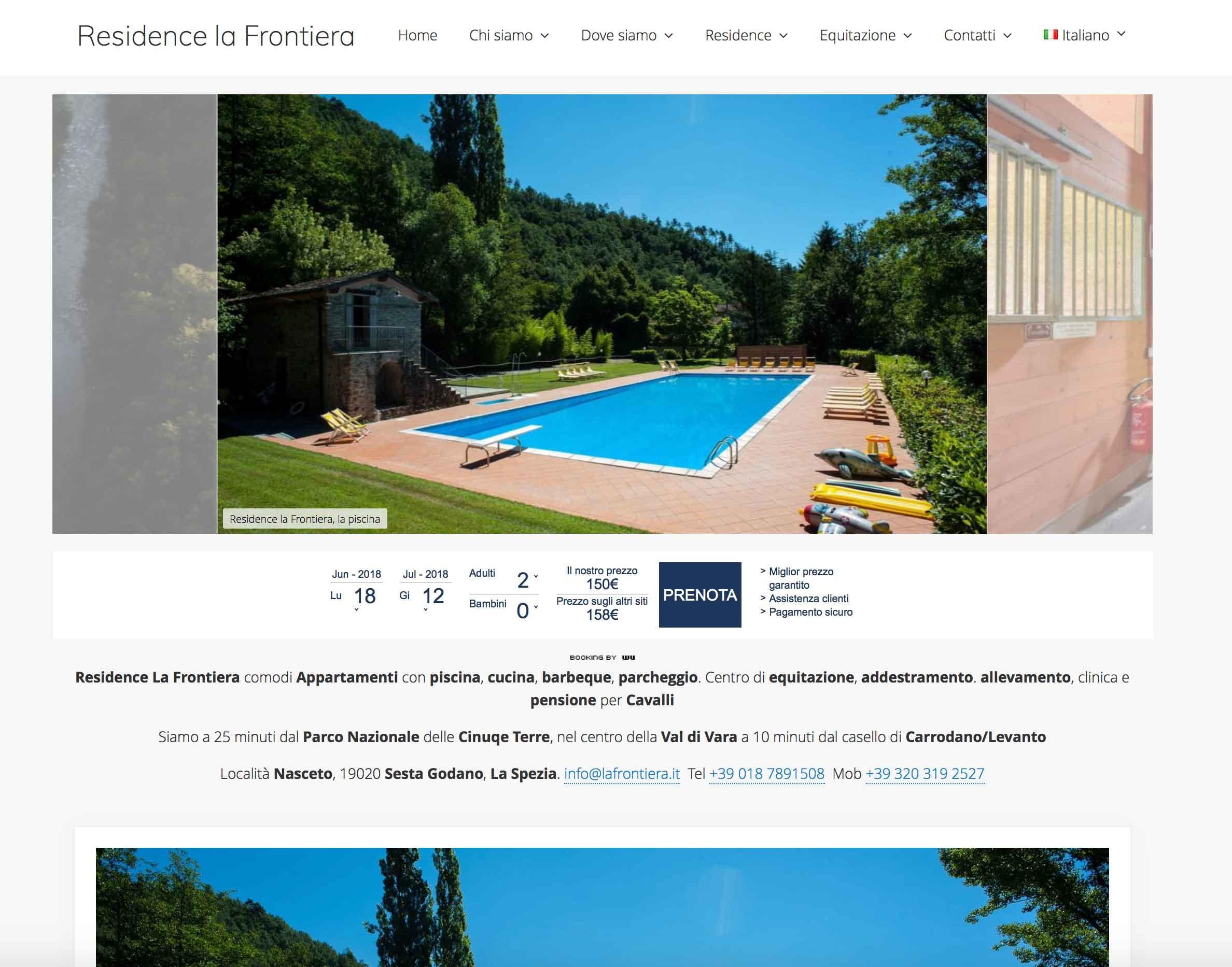 Residence La Frontiera -  Nuovo sito internet 1