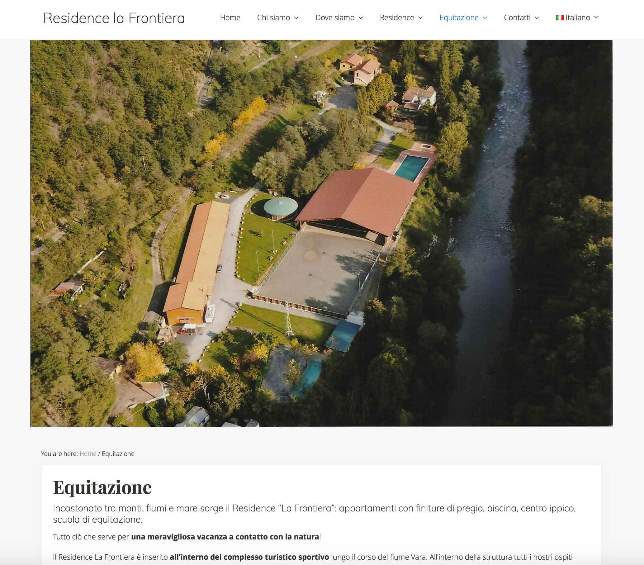 residence la frontiera nuovo sito internet