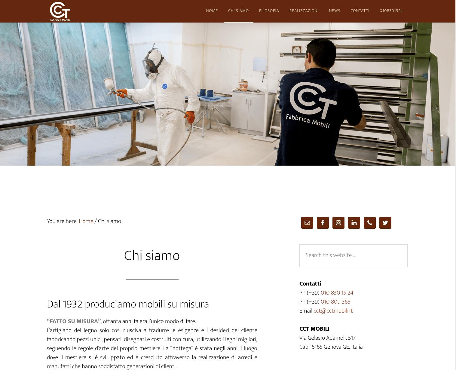 nuovo sito internet Cct Mobili