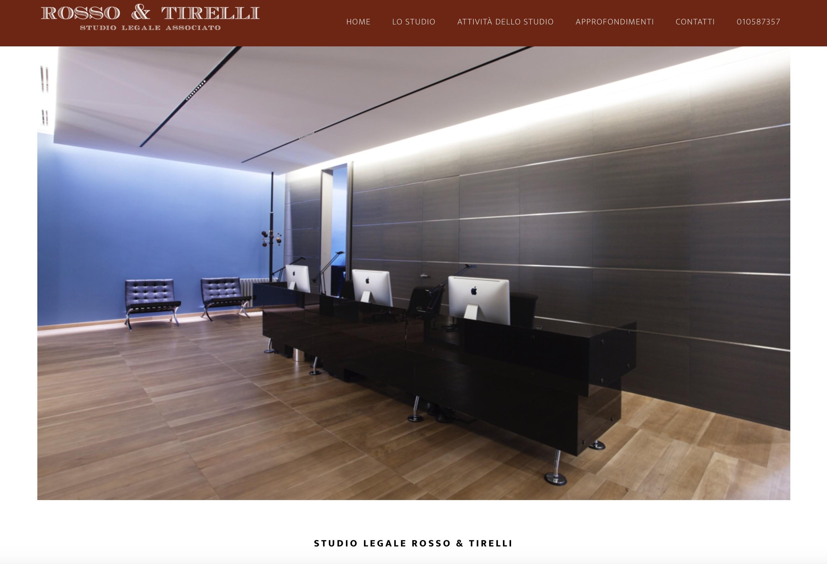 Studio Legale Associato Rosso & Tirelli  Genova - Nuovo sito internet 1