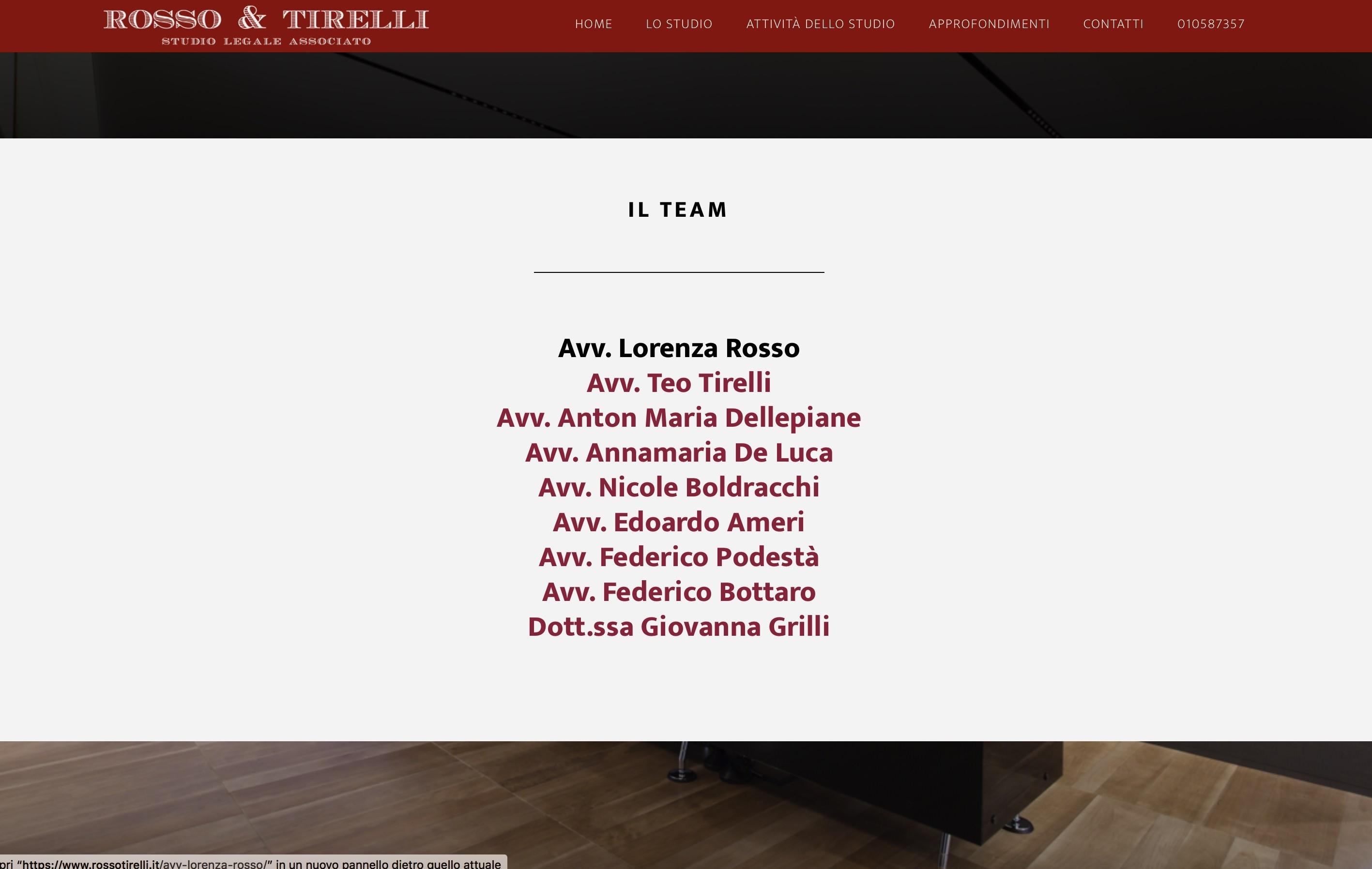 Studio Legale Associato Rosso & Tirelli  Genova - Nuovo sito internet 3