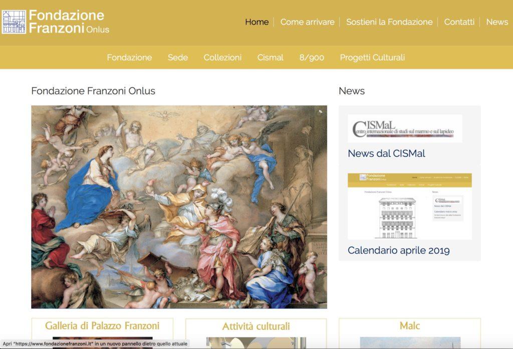 Redesign sito Fondazione Franzoni Onlus