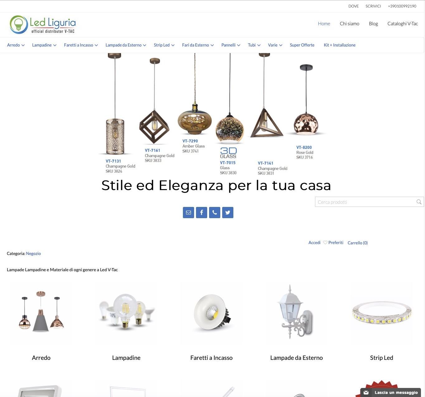 Nuovo sito Ecommerce Led Liguria