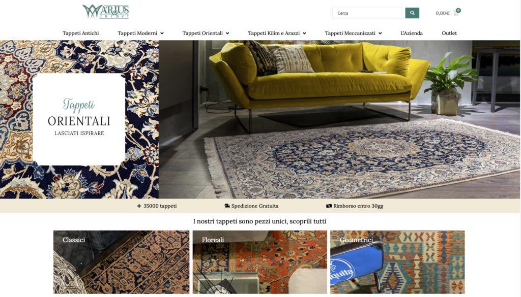 Shooting fotografico per nuovo sito internet Arius Carpet, Genova, presso Paolo Rosato arredamenti 1