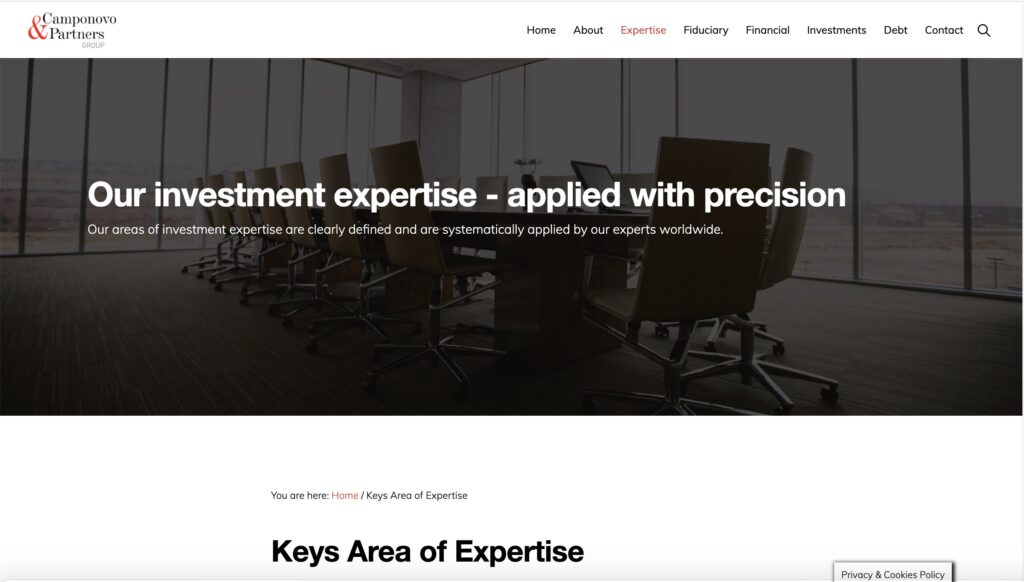 New website Camponovo & Partners Group 6
