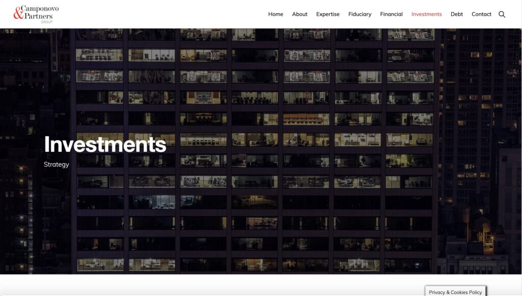 New website Camponovo & Partners Group 9