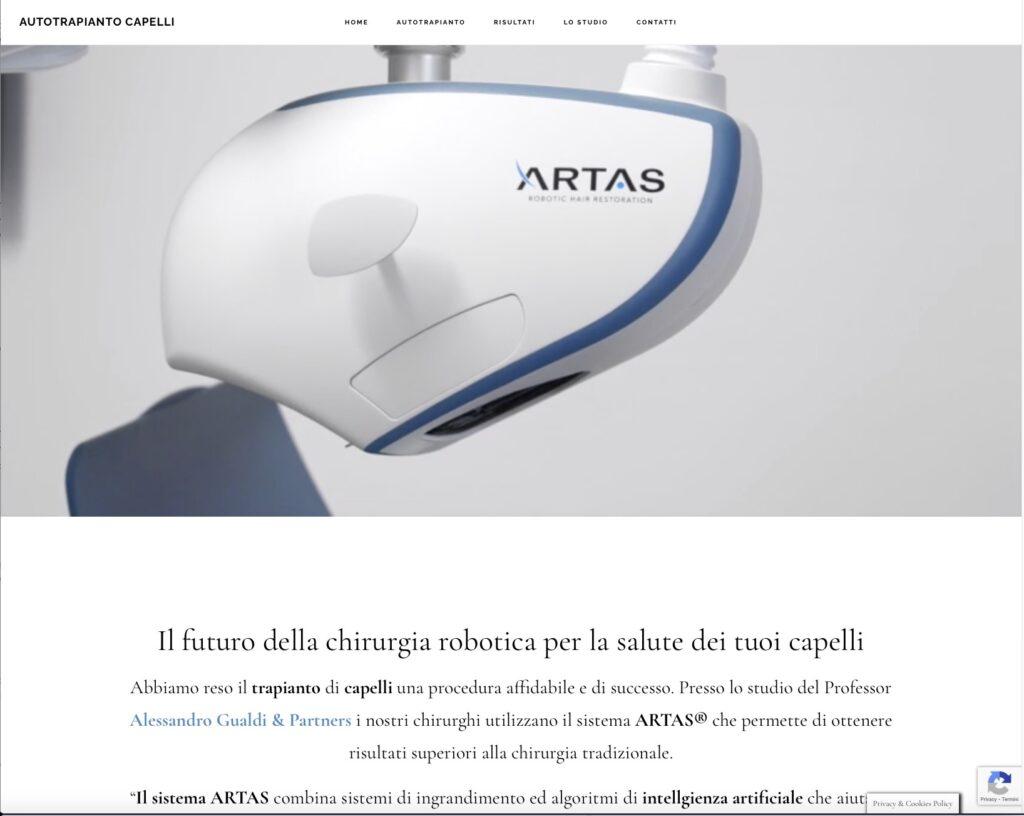 Autotrapianto Capelli con ARTAS nuovo sito internet