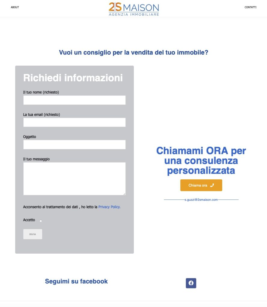 Stefano Guzzi Nuovo sito internet One Page 3