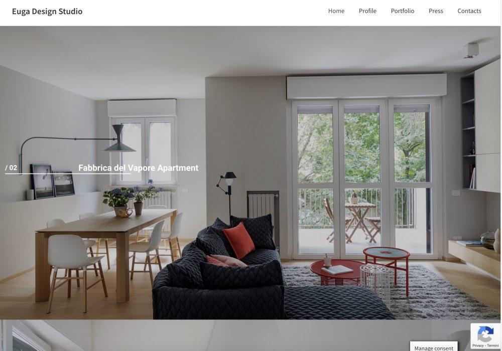 Euga Design Studio re-design interfaccia